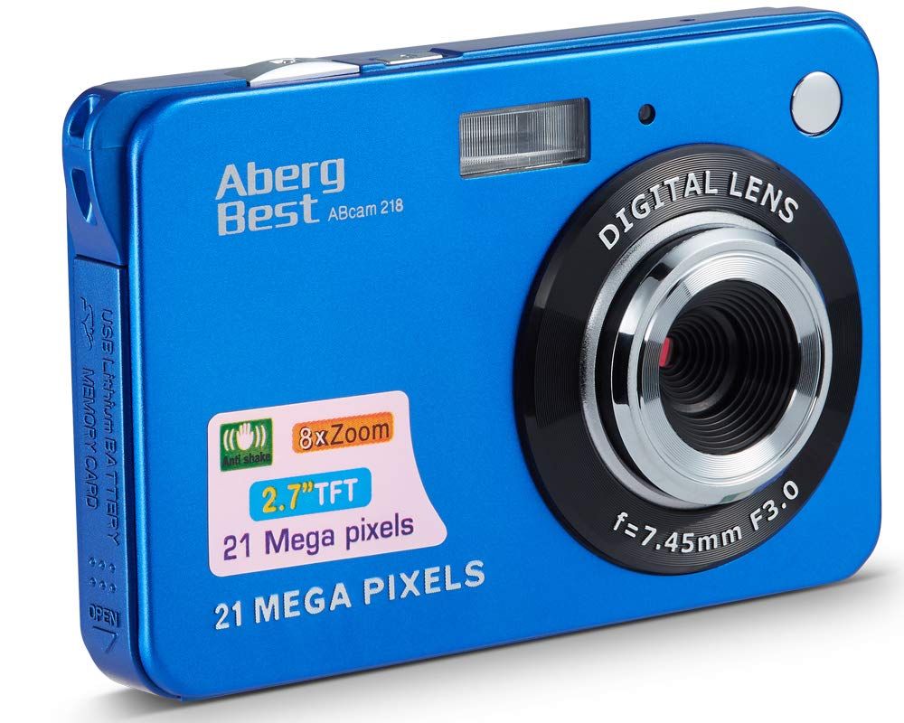 "AbergBest 21 Mega Pixels 2.7"" LCD Rechargeable HD Digital Camera Video Camera Di"