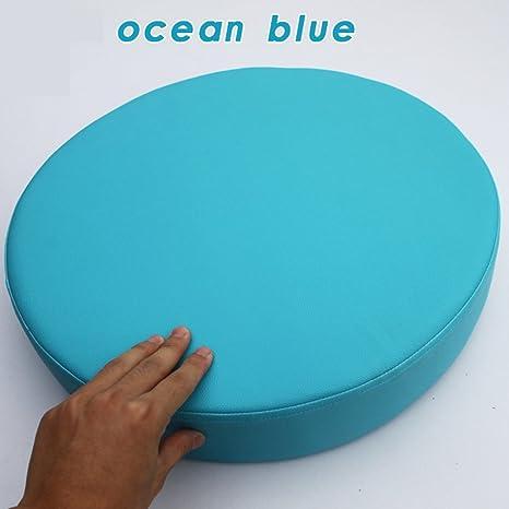 Amazon.com: Cojín de espuma de cuero sintético redondo para ...
