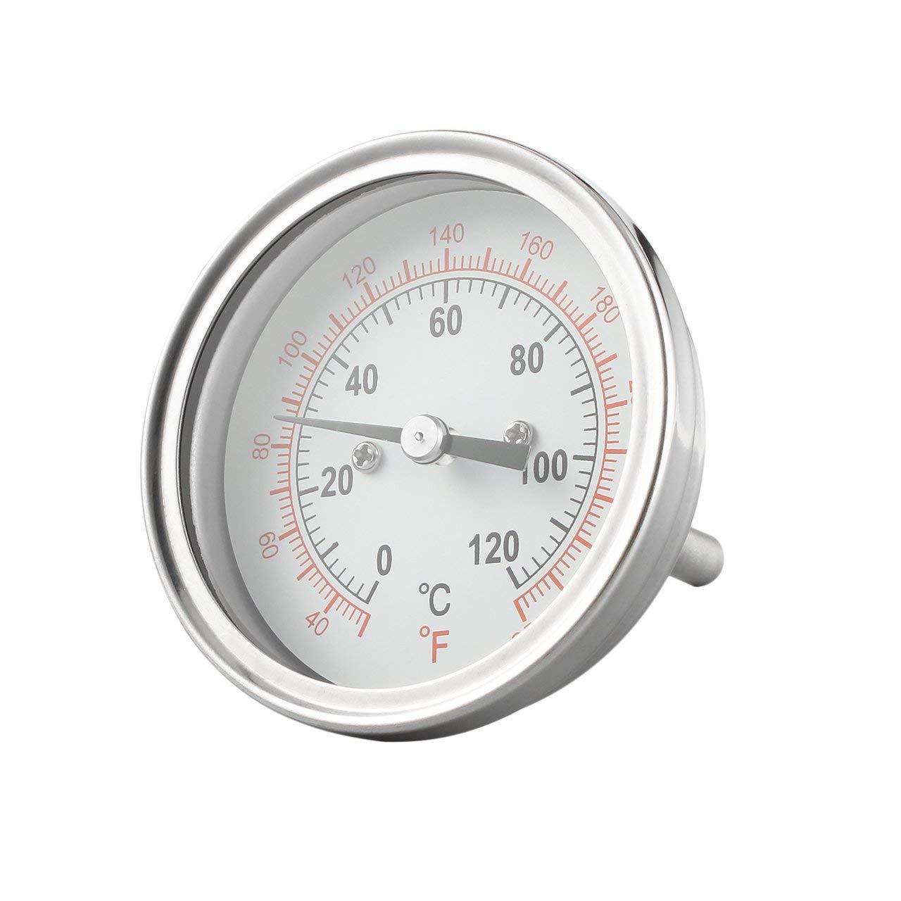 fITtprintse Termometro per Barbecue Termometro Industriale per Un condensatore alambicco Still Condenser Brew Pot Strumenti per la Temperatura Acciaio Inossidabile Caldo