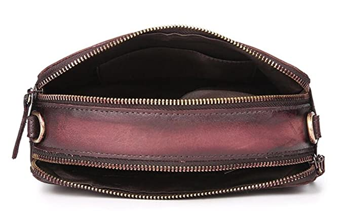 c8bc8377bb2d9 SHFANG Dame Vintage Leder Handtasche   Schultertasche   Kopf Schicht  Rindleder Reine manuelle Umhängetasche   schrägen Kreuz kleine  Seitentasche