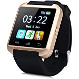 VELL- TECH SIM and Camera Card Slot Supported Smartwatch Compatible With Android and Apple (Golden)