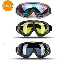 JTENG Gafas de esquí Gafas de Motocross Gafas