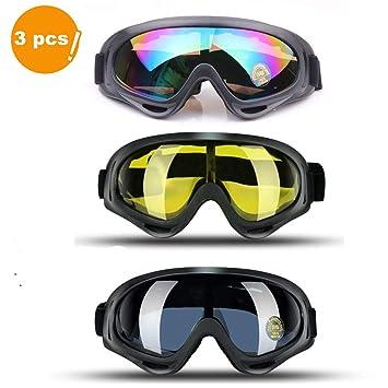JTENG Gafas de esquí Gafas de Motocross Gafas Deportivas Gafas de Nieve Gafas de Deportes de ...