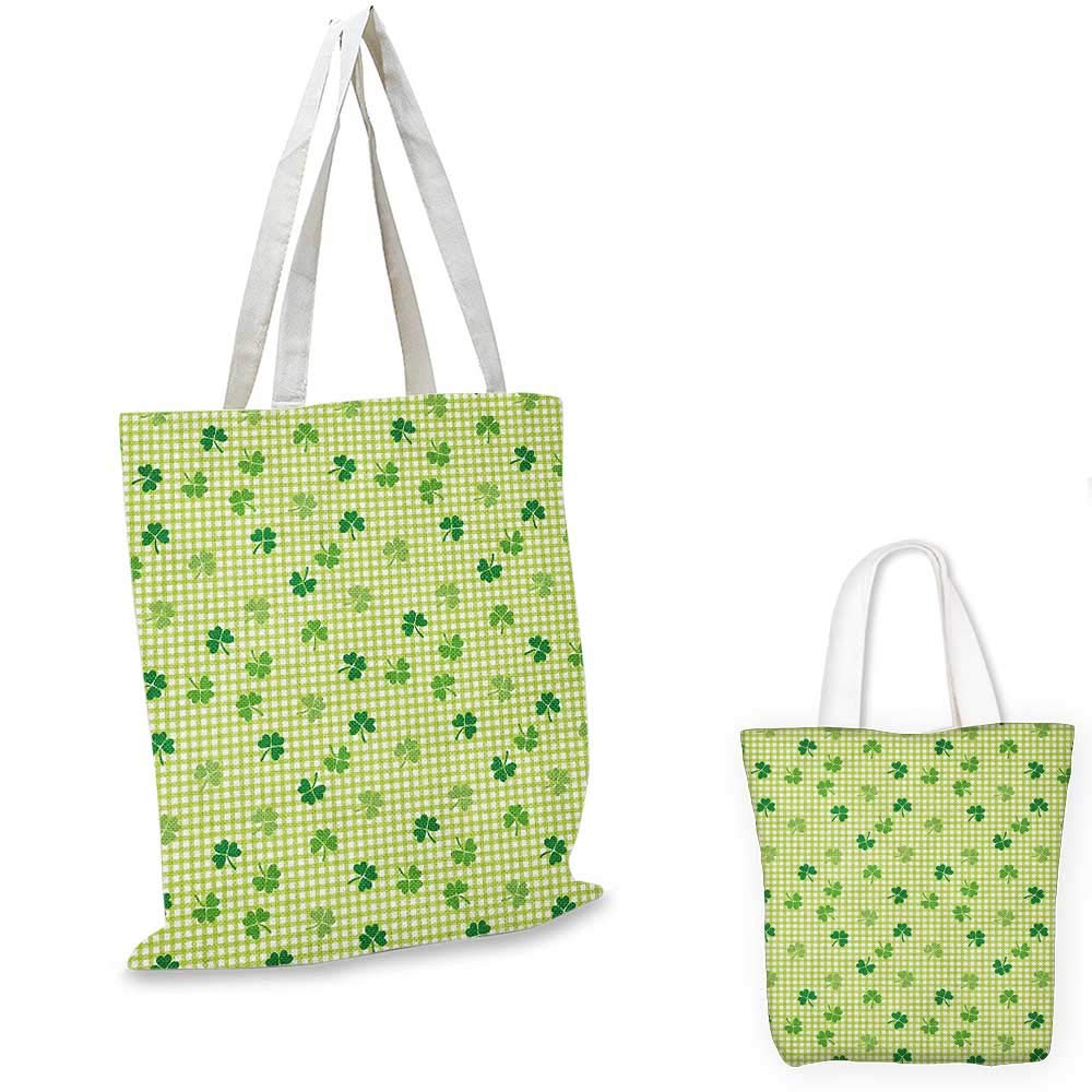 14x16-11 Irish canvas messenger bag Traditional Flowers Modern Design Low Poly Effects Symmetry Geometrical canvas beach bag Green Dark Green White