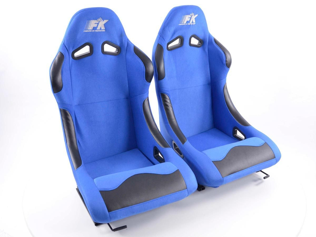 Sportsitz Set Basic 1xlinks+1xrechts blau FK-Automotive