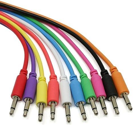 C/âbles de raccordement Eurorack Ensemble de 5 c/âbles de raccordement mono tress/és de 3,5 /à 3,5 mm /à utiliser avec les synth/étiseurs modulaires 10 couleurs // 5 longueurs