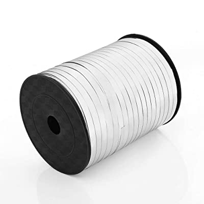 ZOOYOO 500 Yards Balloon String Party Decorative Supplies Balloon Curling Ribbons For Decoration Balloon Accessories,Sliver: Toys & Games