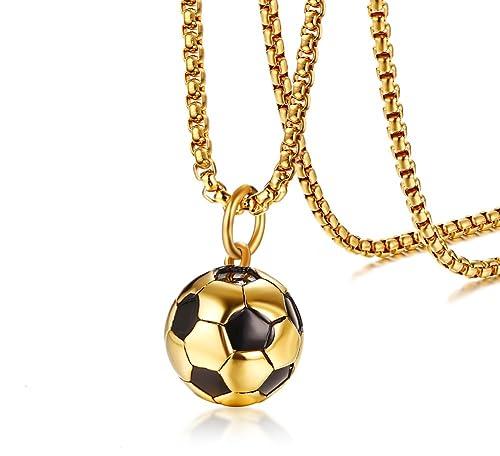 Amazon.com: Lary joyas acero inoxidable dorado colgante de ...