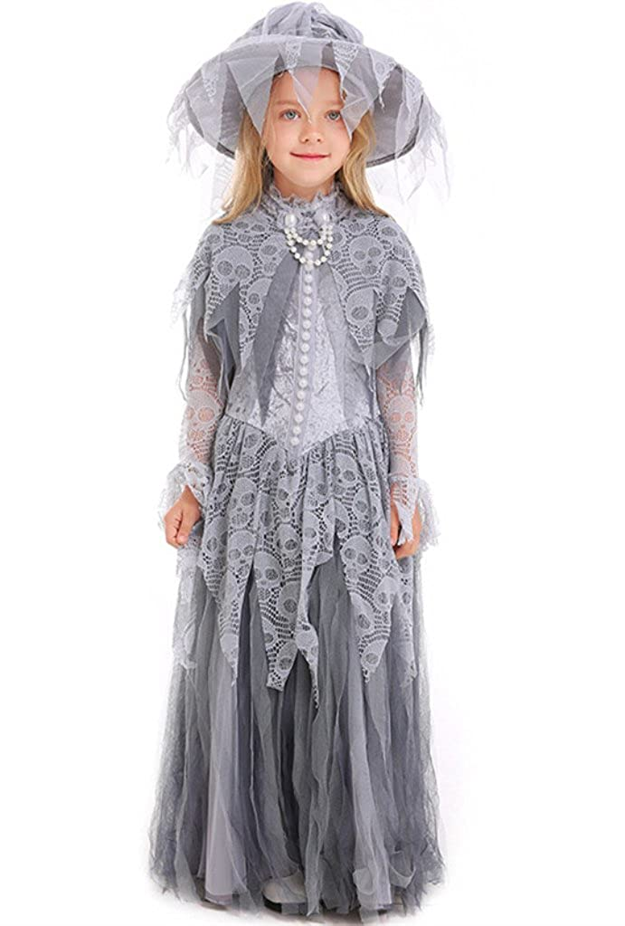 haunted beauty girls Child Ghost Bride costume