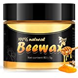 Wood Seasoning Beewax, Multipurpose Natural Wood Wax Traditional Beeswax Polish with UV Protection for Home Cleaning…