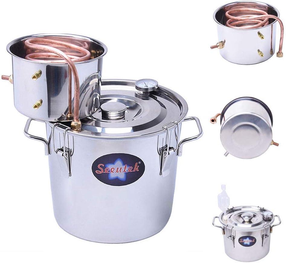8 Gal Moonshine Still Spirits Kit 30L Water Alcohol Distiller Copper Tube Boiler