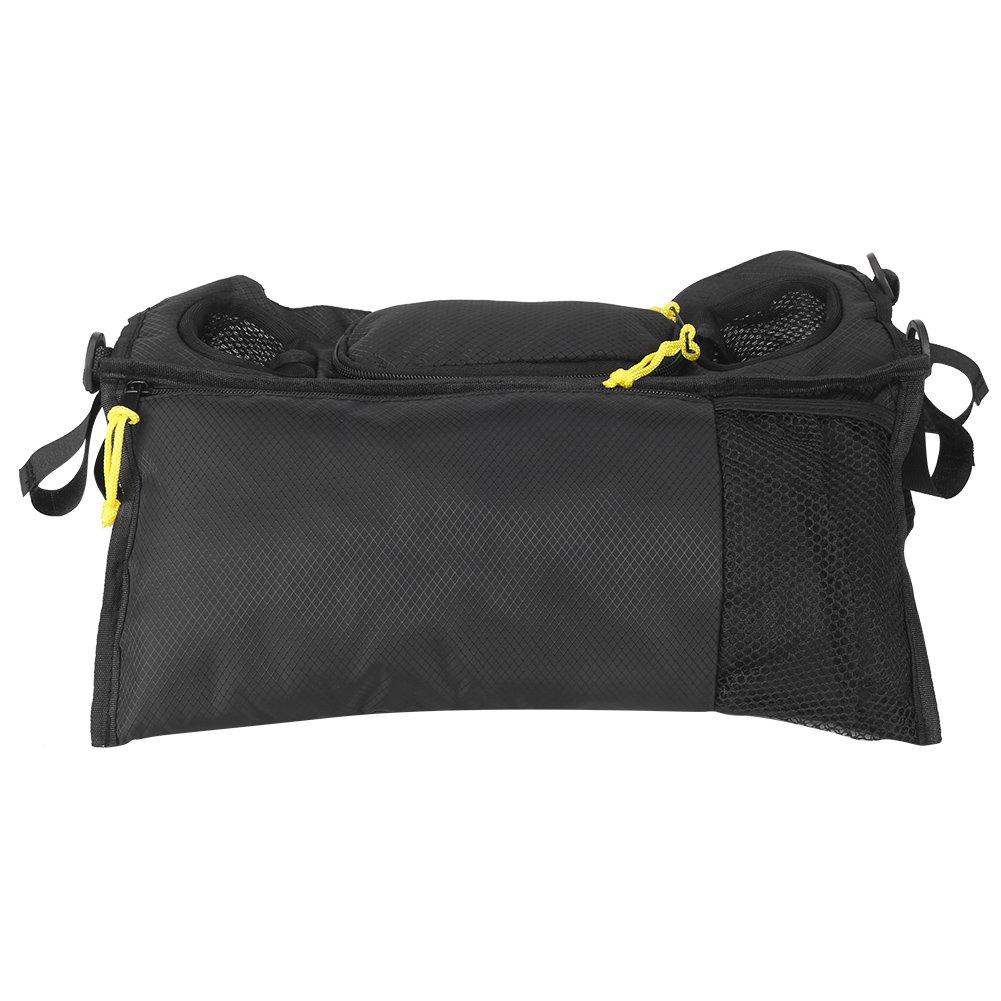 Sillín Organizador Bolsa 2 Portavasos Almacenamiento con malla Teléfono celular Bolsillo Negro: Amazon.es: Bebé