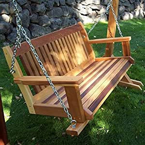 Amazon Com Cabbage Hill Wooden Porch Swing Wooden