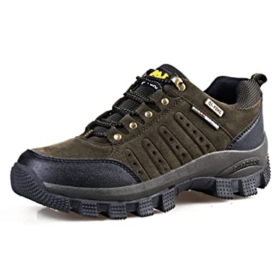 Men's Hiker Leather Winter Waterproof Hiking Boot Anti Cold Outdoor Backpacking Shoes