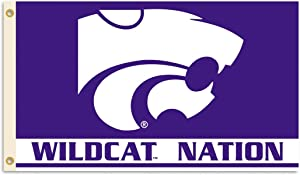 BSI NCAA College Kansas State Wildcats 3 X 5 Foot Flag with Grommets