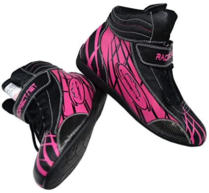 ce583dbcdd24e Amazon.com: Racerdirect Youth Girls Pink & Black Racing Driving ...