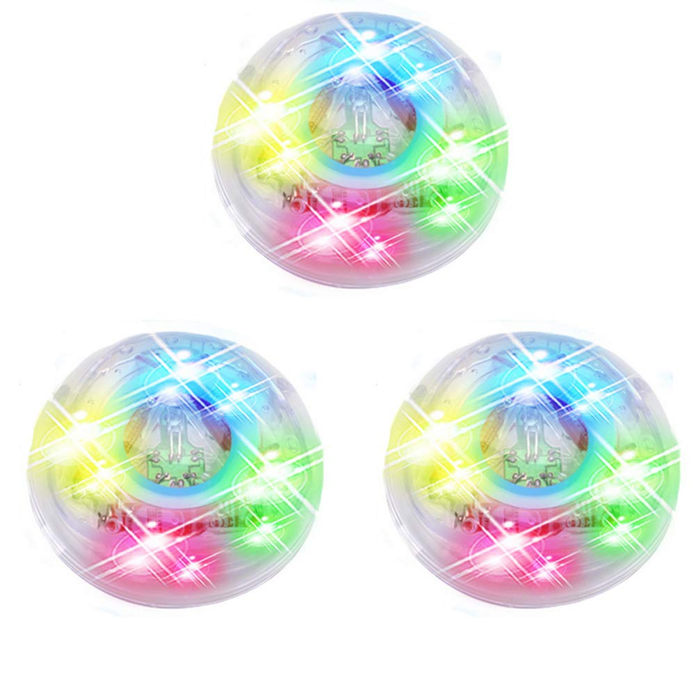 Kid LED Light Up Bathtub Toy Colorful Waterproof Bathroom Lamp Floating Toy Bath Water LED Light Handheld Flashlights for Baby Boys and Girls 3Pcs