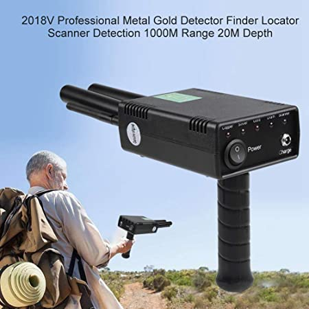 Amazon.com : fosa 3D Handheld Metal Detector 2018V Professional Metal Gold Detector Finder 1000M Range 20M Depth 100-240V Underground Hunter Gold Detectors ...