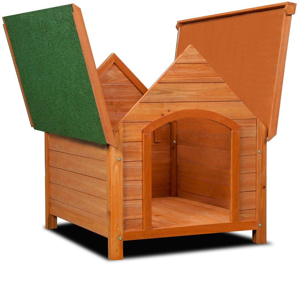 XXL Caseta para perro de Madera Maciza impermeable con techo, de machimbre: Amazon.es: Productos para mascotas