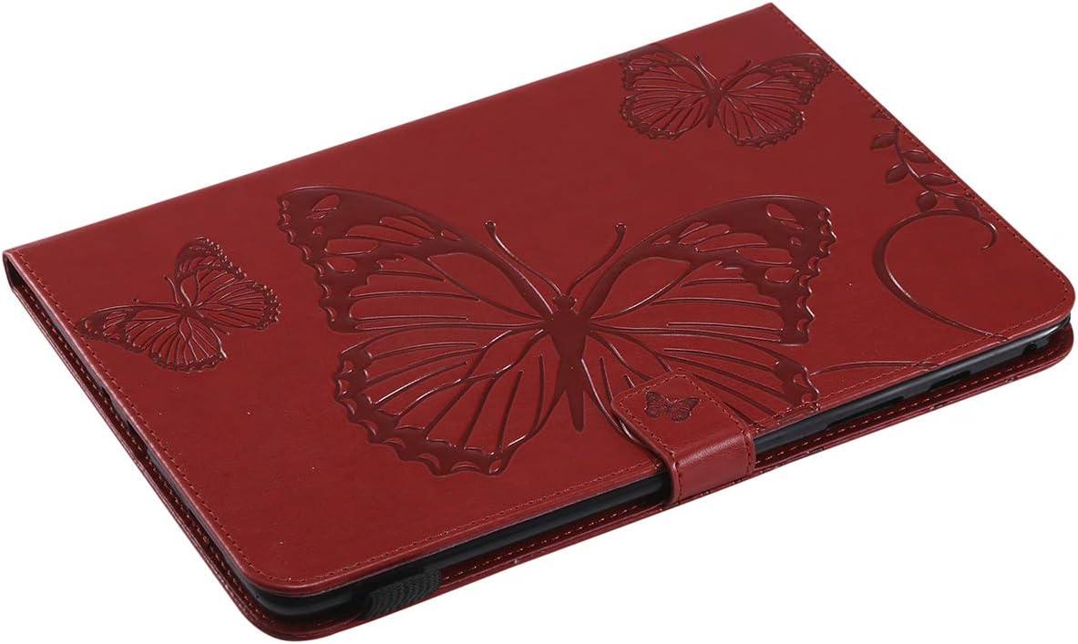 Felfy Kompatibel mit Galaxy Tab A 9.7 T550 T555 H/ülle Case Cover Blau Schmetterling Muster Pr/ägung H/ülle im Bookstyle Flip Case PU Leder Wallet Tasche Brieftasche mit Standfunktion