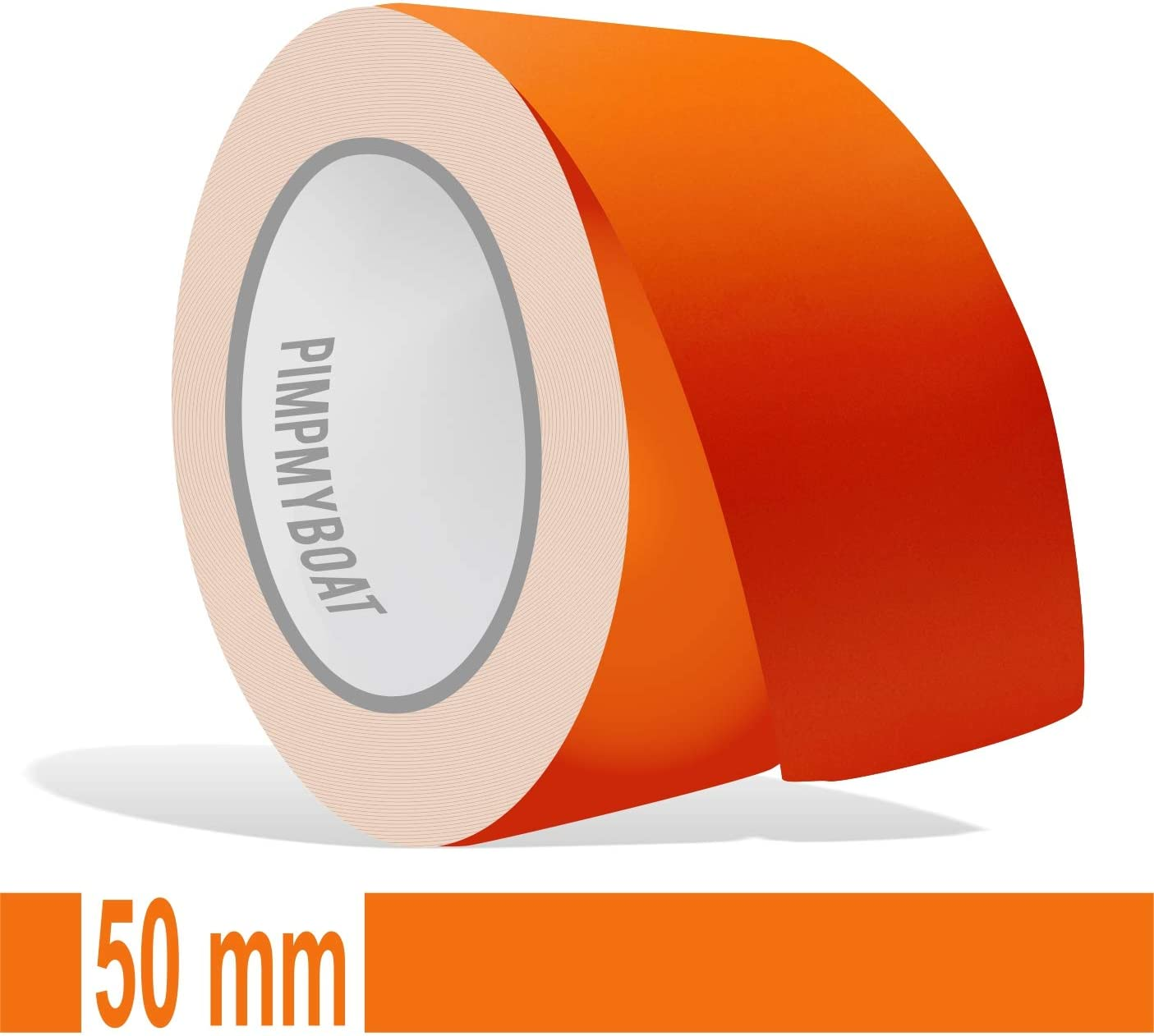 Siviwonder Zierstreifen Orange Matt In 50 Mm Breite Und 10 M Länge Für Auto Boot Jetski Modellbau Klebeband Dekorstreifen Auto