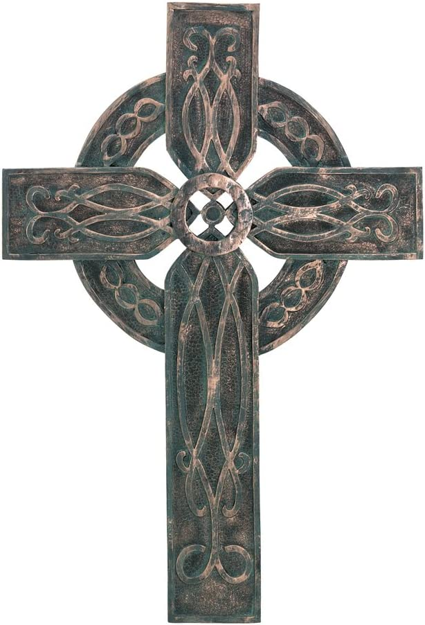 Gifts & Decor Antiqued Rustic Celtic Old World Style Wall Cross