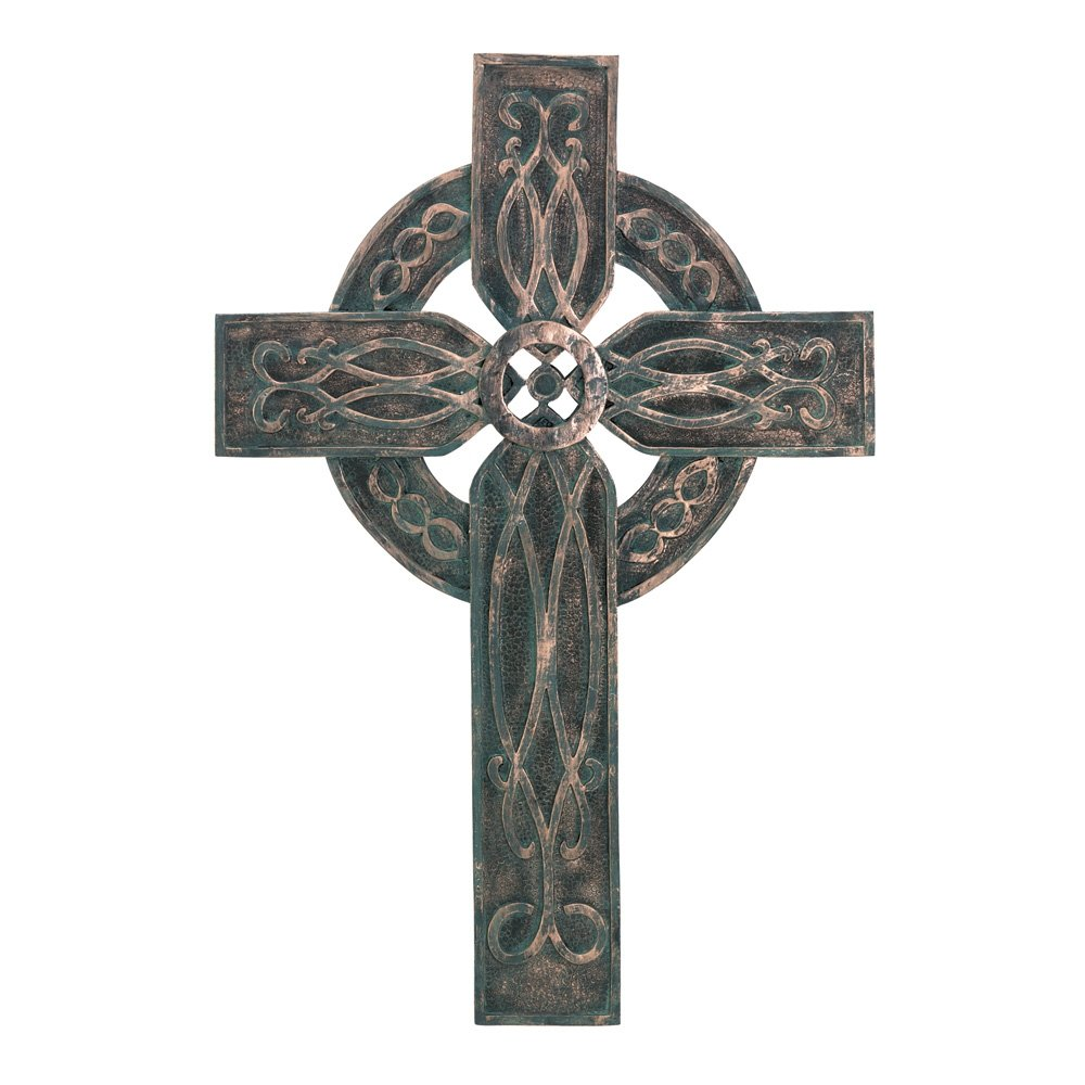 Gifts & Decor Antiqued Rustic Celtic Old World Style Wall Cross Furniture Creations 34120