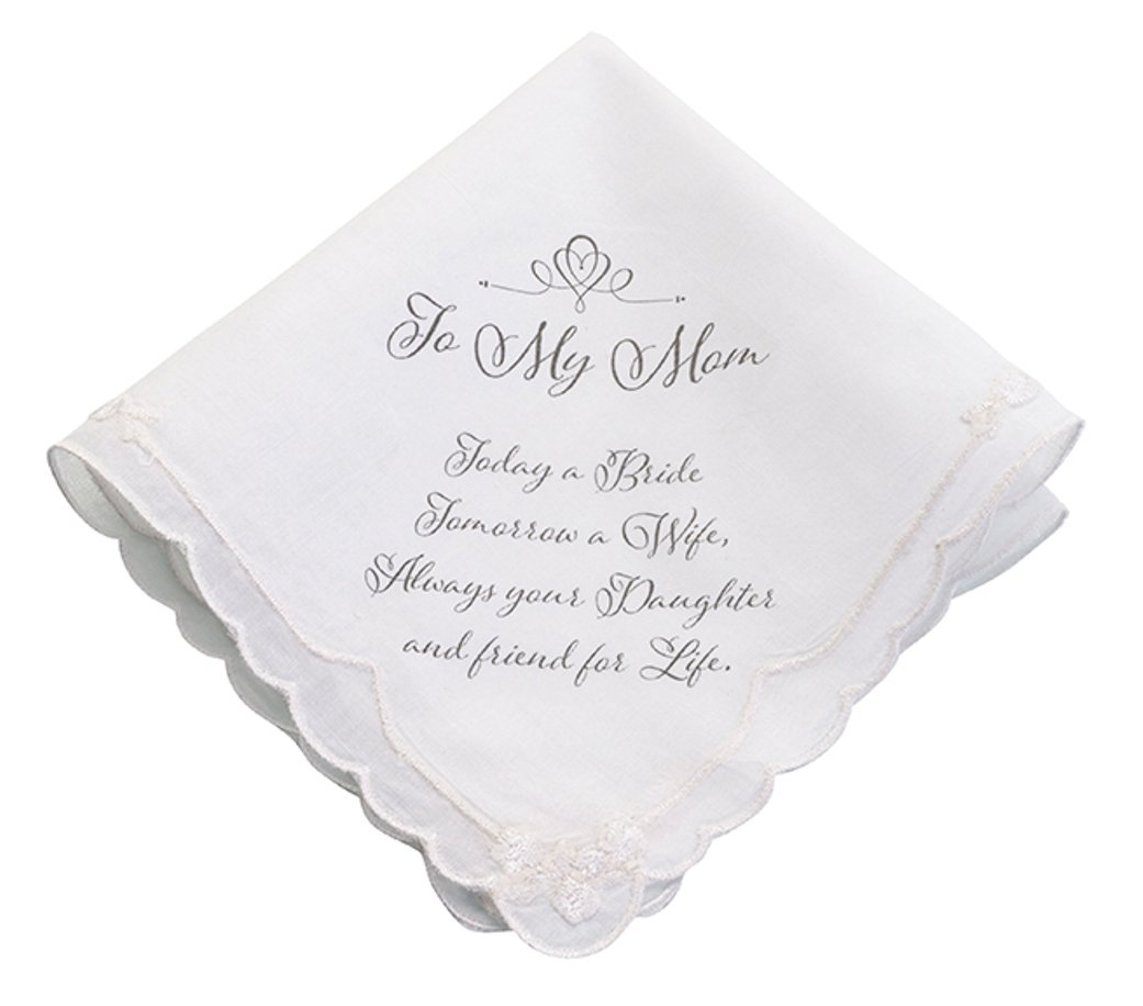 Alla Mia mamma wedding day fazzoletto Sentimental Verse Hankie PMC