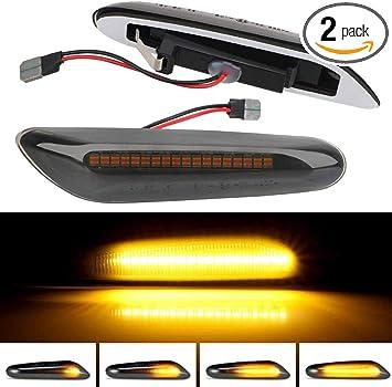 Fits BMW E90 E91 E92 E93 E87 Pair of LED Side Marker Turn Signal Light