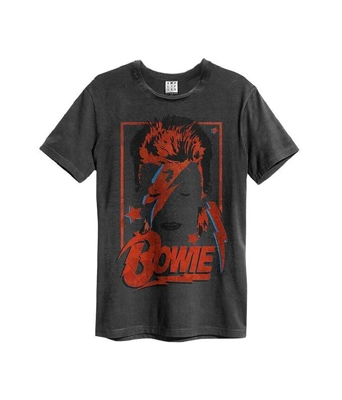 Amplified David Bowie Aladdin Sane T-Shirt (L, Charcoal)