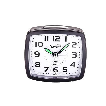 Yadelai Despertador Analógico de Viaje,Reloj de Alarma para Niños Pequeño Tamaño Simple con Pilas Que no Hace Tictac Posponer Funciones de luz Reloj ...