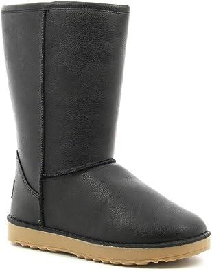 Ideal Shoes Bottines fourrées Hivernales mi Hautes en Simili Cuir Aldous