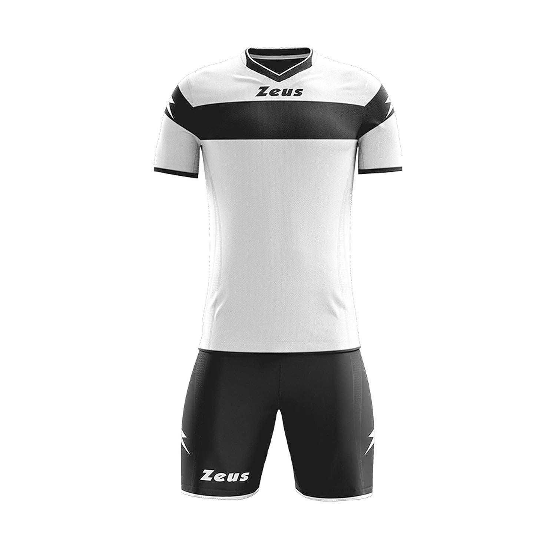 tenue de sport pour /école et tournoi Zeus Apollo Blu-Royal Ensemble // Tenue de Football XXXS Blanc//noir