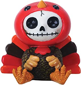 SUMMIT COLLECTION Furrybones Pumpkin Signature Skeleton in Turkey Costume