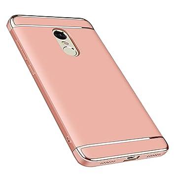 Funda Redmi 5 Plus,Ultra Delgado Luxury 3 en 1 Carcasa Desmontable Anti-Scratch Mate Hard Protectora Case Cover Funda para Xiaomi Redmi 5 Plus ,Rosa