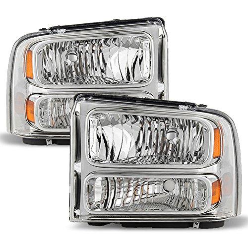 ACANII - For 2005-2007 Ford F250 F350 F450 F550 Super duty Headlights Driver + Passenger Side 05 06 07
