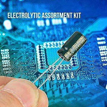 SANON Electrolytic Capacitor 100pcs 10 Values 10V-63V 10uf-470uf DIY High Grade Audio Capacitor Assorted Kit
