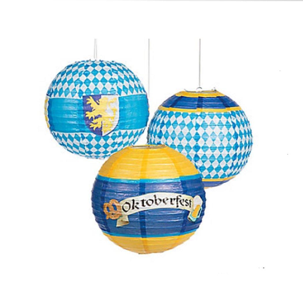 Oktoberfest Paper Lanterns Decorations (set of 6)