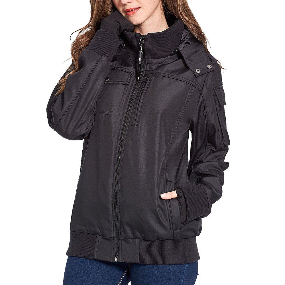 BOMBAX Women Travel Jacket 10 Pocket Flight Bomber Windbreaker Coats Outwear by BOMBAX