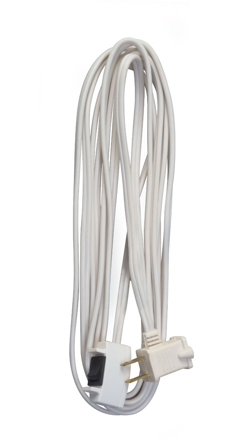 woods 16 2 indoor cord with switch wired remote on off white 15 feet ebay. Black Bedroom Furniture Sets. Home Design Ideas