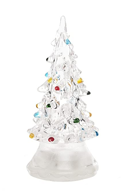 led color changing lighted christmas tree small by ganzclear - Small Lighted Christmas Tree