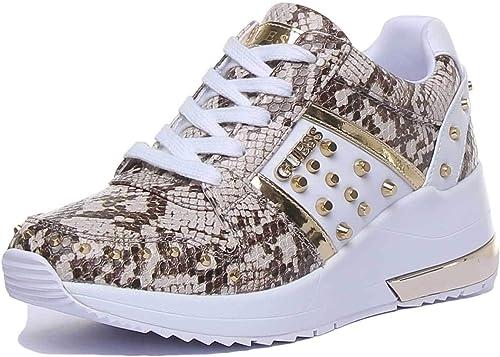 Guess Scarpe Donna Sneakers con Zeppa FL7JODPEL12 Bianco