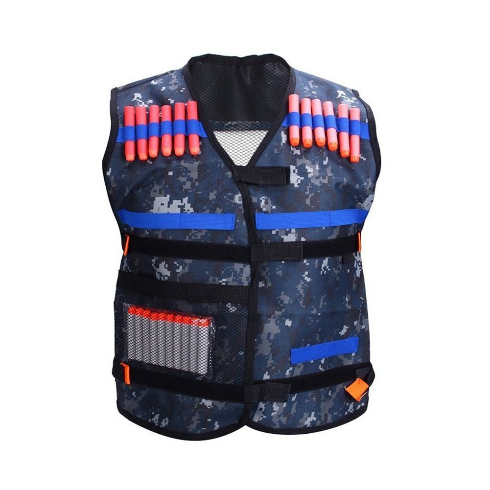 Yosoo Adjustable Elite Padded Tactical Vest with Storage Pocket for Nerf N-Strike Elite Series Blasters Kid Toy Play and Other Outdoor Activities, Pack of 1