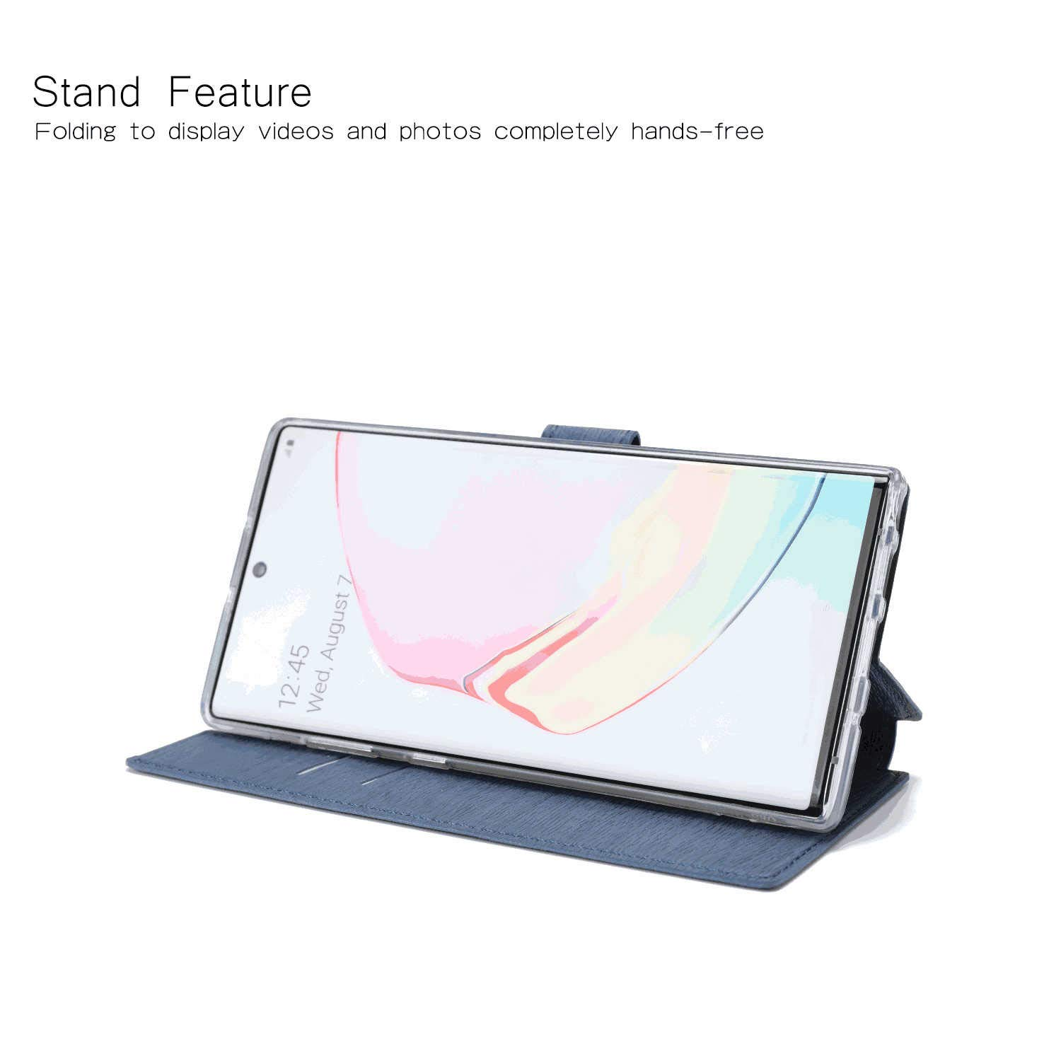 Cover for Huawei P30 lite Leather Extra-Durable Business Kickstand Mobile Phone Cover Card Holders with Free Waterproof-Bag Blue1 Huawei P30 lite Flip Case
