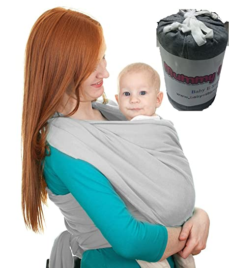 Adjustable Baby Sling Stretchy Wrap Carrier Pouch Infant Birth Breastfeeding Blue