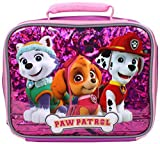 Nickelodeon Girls' Paw Patrol Pals Fully Insulated Lunch Bag, Pink