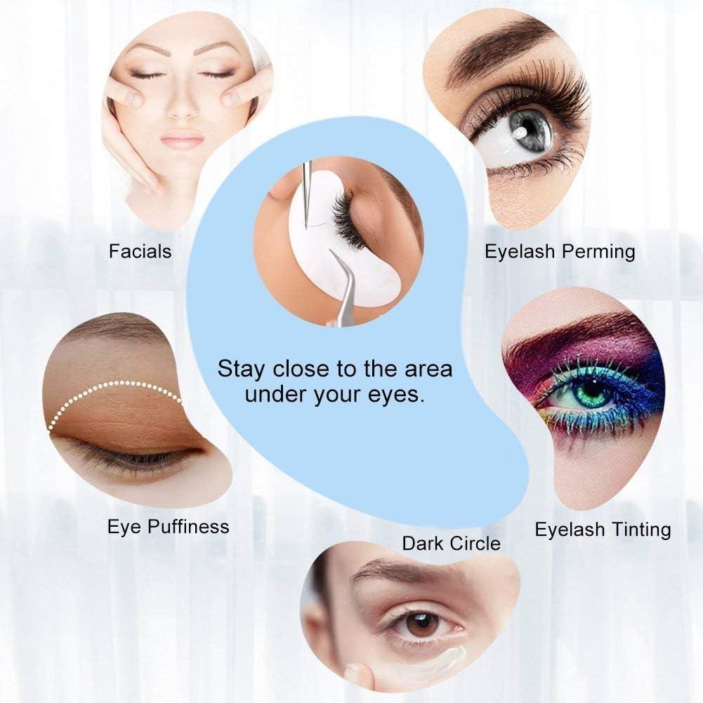 Eye Gel Parches, Aikvigss Eye Gel Pads Parches para Pestañas Under Eye Gel Parches+50PCS Pincel de Pestañas Desechables+50PCS Pinceles de Labios ...