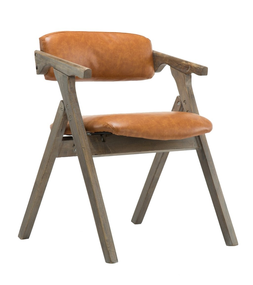 Amazon.com: LPZ-STOOL Solid Wood Dining Chair Foldable Chair with ...
