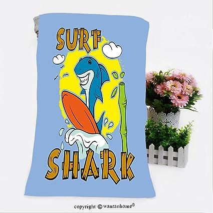VROSELV algodón Microfibra baño baño Towel-Shark para T Shirt de impresión Surfer Tabla de