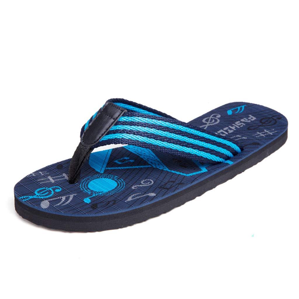 bluee Mens Beach flip Flops Summer Sandals Lightweight Comfy Swimming Pool flip Flop Sandals Non-Slip Casual Fashion Outdoor